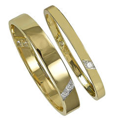 Cartier Diamond Gold Bangle Bracelets