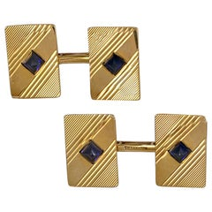 TIFFANY & CO. Cufflinks with Sapphires