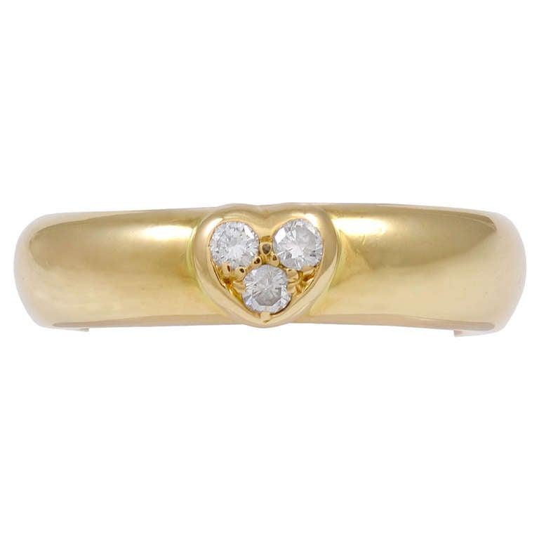 TIFFANY & CO Ring with Diamond Heart