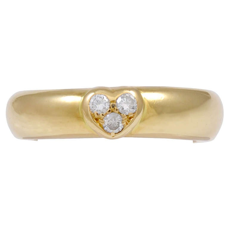 TIFFANY & CO Ring with Diamond Heart For Sale
