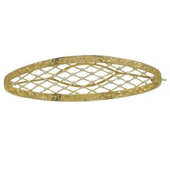 Large Pearl Gold Lattice Work Barrette