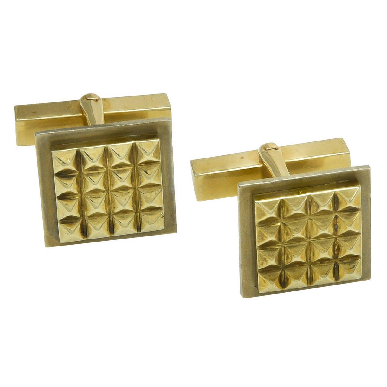 Tiffany & Co. Gold Cufflinks