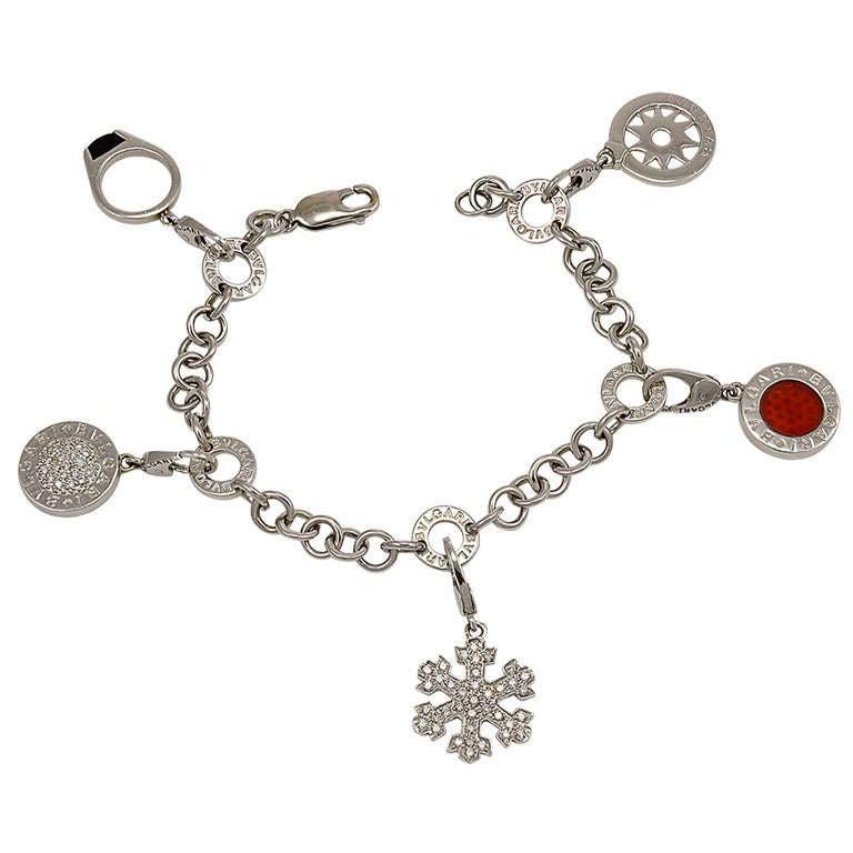 BULGARI  Gold Charm Bracelet For Sale