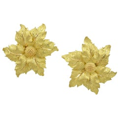 Buccellati Large Gold Leaf Earrings
