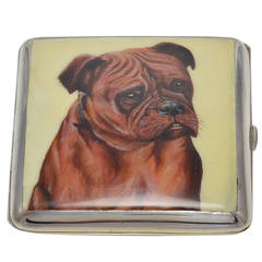 Mastiff Antique Enamel Alpacca Case