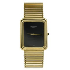 Patek Philippe Yellow Gold Black Dial Wristwatch Ref 3649J