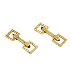 Onyx Gold Flip-Up Cufflinks