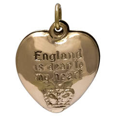 """England is Dear to My Heart"" Gold Charm"