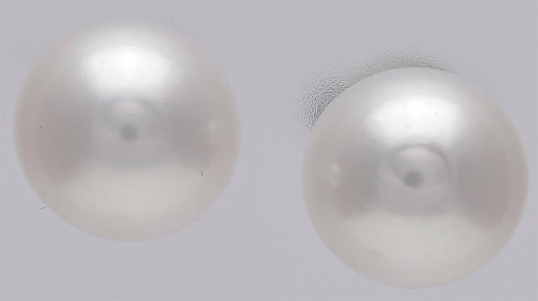 Tiffany & Co. Signature Akoya Pearl Stud Earrings In Excellent Condition For Sale In New York, NY