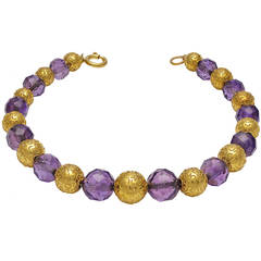 Victorian Amethyst Yellow Gold Bracelet