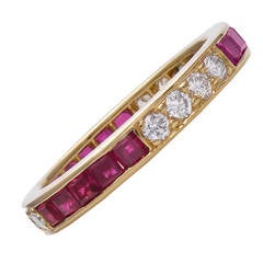 Tiffany & Co. Ruby Diamond Eternity Ring