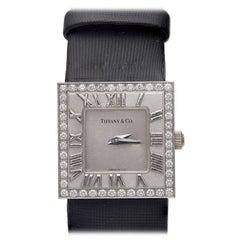 Tiffany & Co. Lady's White Gold and Diamond Atlas Wristwatch