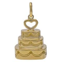 Tiffany & Co. Gold Wedding Cake Charm