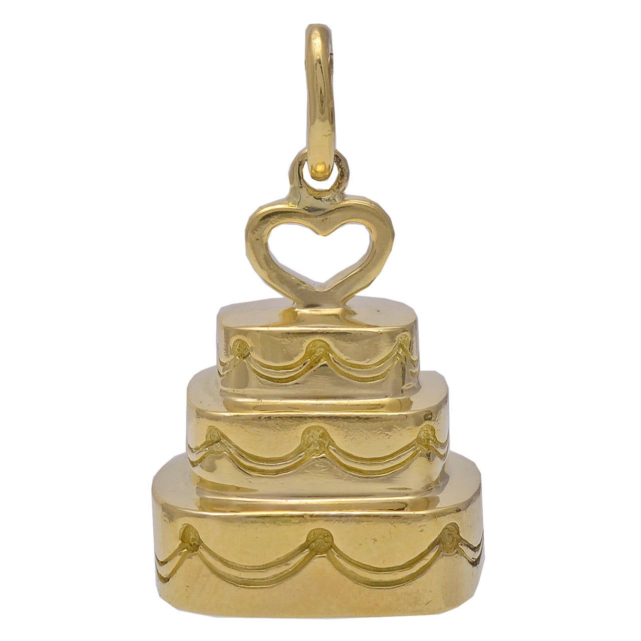 Tiffany & Co. Gold Wedding Cake Charm For Sale