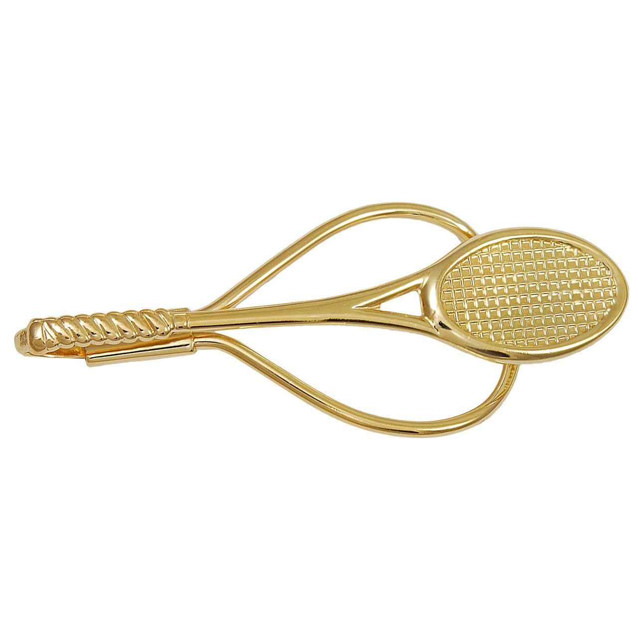 Tennis Racquet Gold Money Clip