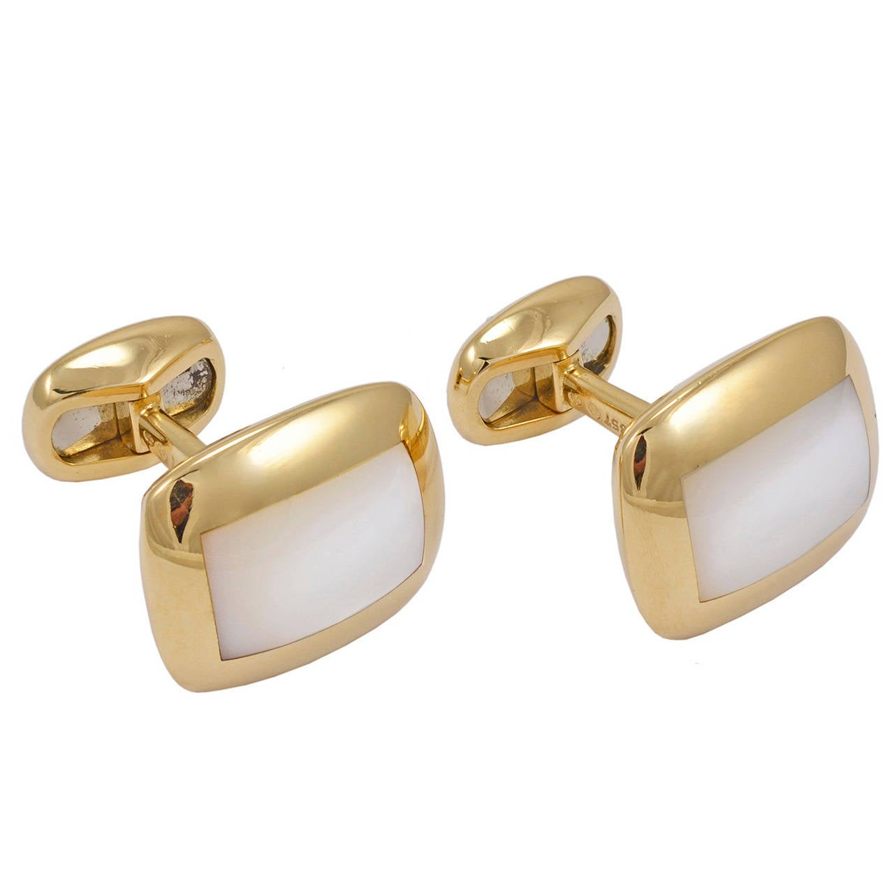Van Cleef & Arpels Mother of Pearl Gold Cufflinks