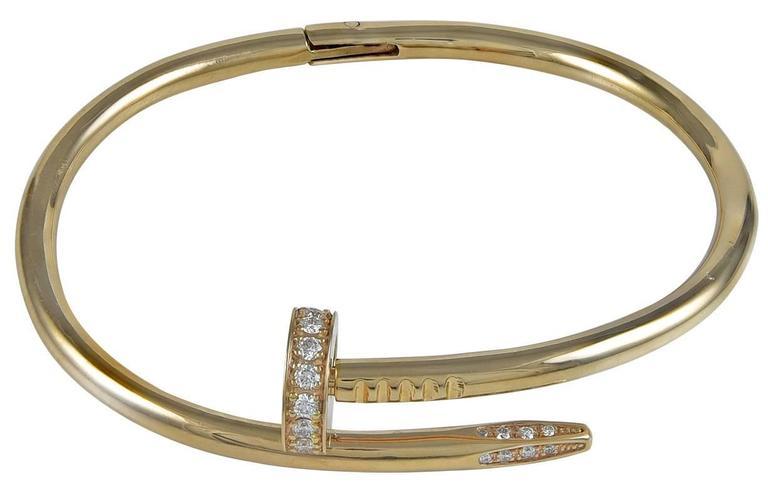 CARTIER Juste un Clou Rose Gold & Diamond Bracelet 2