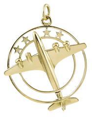Cartier Paris Large Gold Airplane Charm
