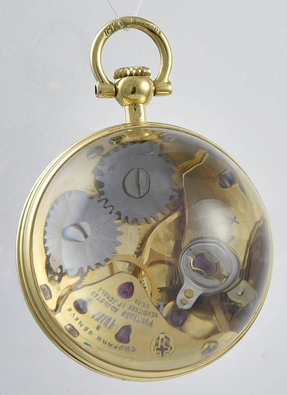 Tiffany And Co Crystal Gold Clock Pendant For Sale At 1stdibs