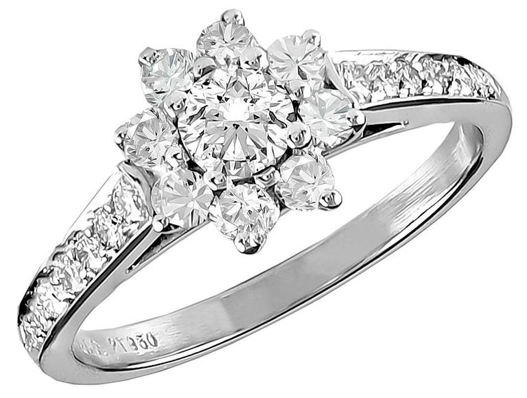 TIFFANY & CO.  Diamond Platinum Ring 2