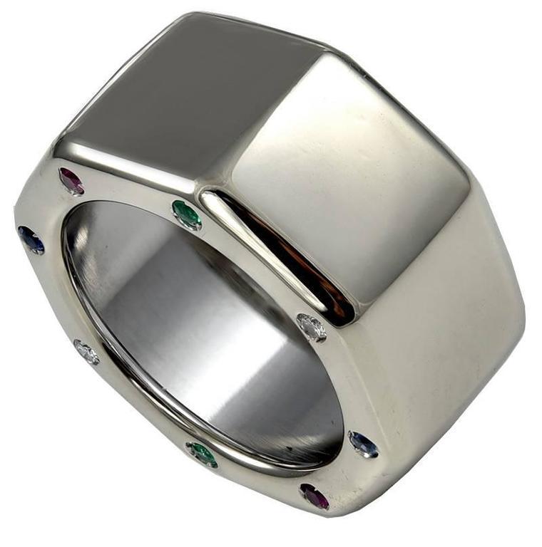 Audemars Piguet Gemset White Gold Royal Oak Off S Band Ring For