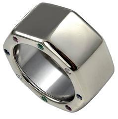 Audemars Piguet Gemset White Gold Royal Oak Off Shore Band Ring