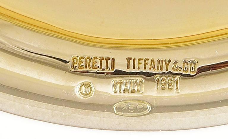 Tiffany & Co. Elsa Peretti Gold Oval Bangle Bracelet 3