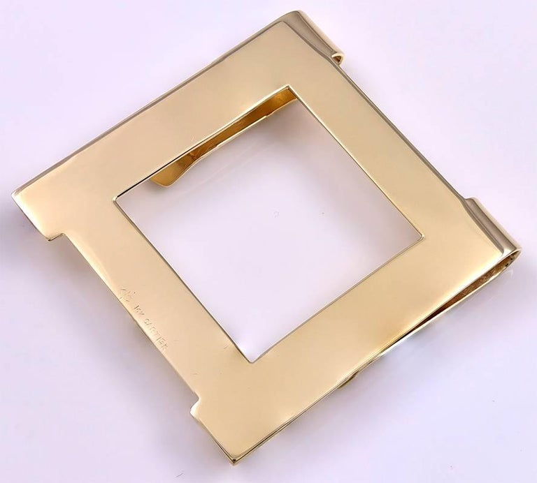 Cartier Gold Money Clip In Excellent Condition For Sale In New York, NY