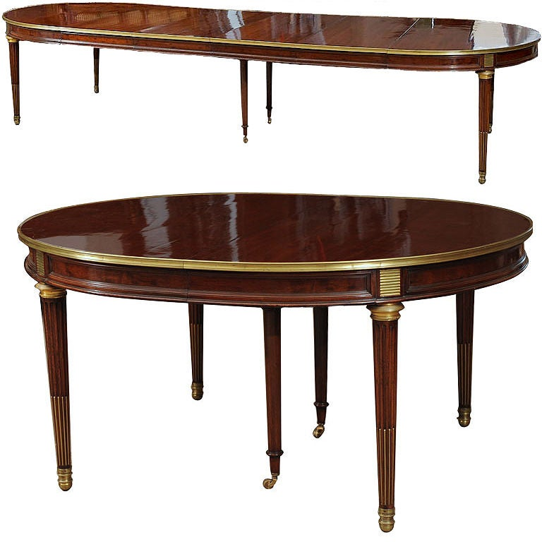 a late 18th c louis xvi neoclassical mahogany dining table at 1stdibs. Black Bedroom Furniture Sets. Home Design Ideas