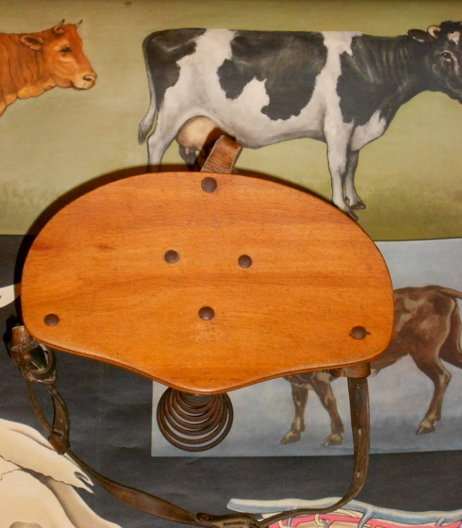 how to build a antique milking stool