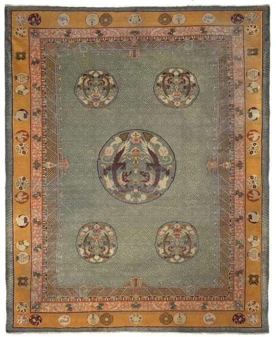 Size 2 7 X6 2 Agra Rug India: Antique Indian Agra Rug For Sale At 1stdibs