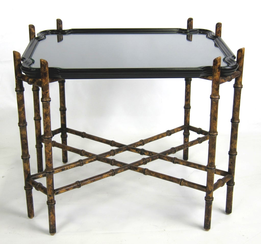 Chinoiserie Faux Bamboo Tray Table By Baker Furniture At 1stdibs