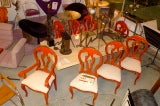 Set of 8 Venetian Baroque Style Dining Chairs thumbnail 6