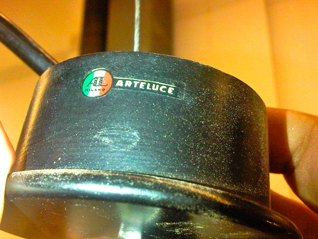 Bakelite Early Gino Sarfatti for Arteluce Chrome Chandelier For Sale