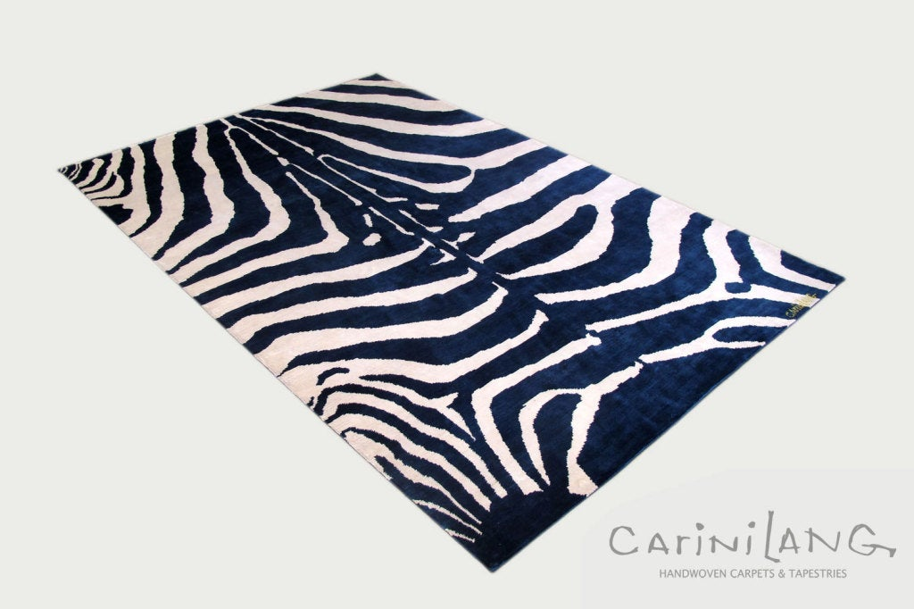 What if Zebras were blue? Artist Joseph Carini takes a whimsical ride with this classic piece in his iconic