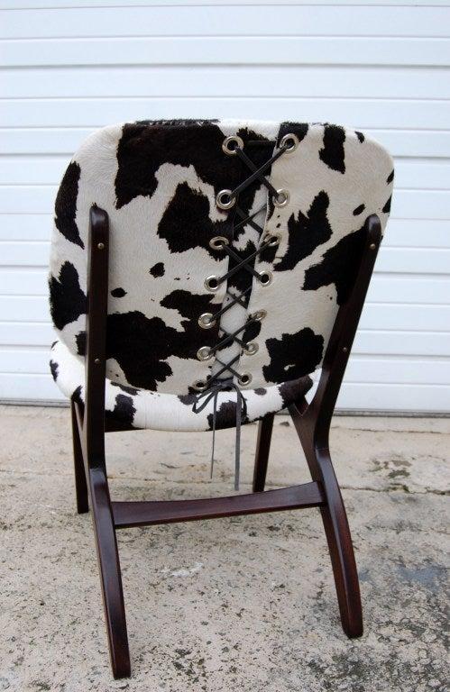 Swedish Mid-Century Modern Pony Hide Lounge Chair For Sale 5