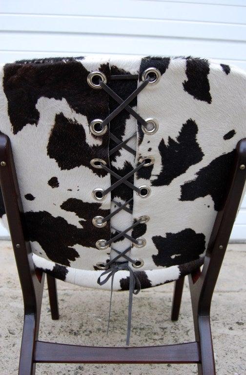 Swedish Mid Century Modern Pony Hide Lounge Chair For Sale