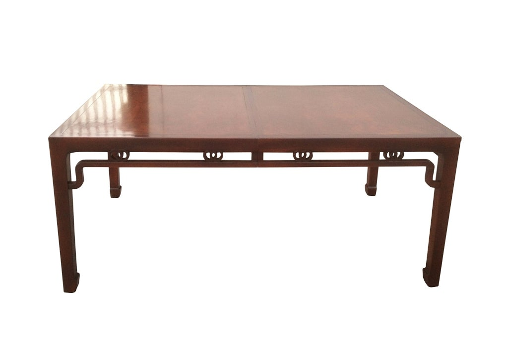 michael taylor mahogany and burl wood dining table for
