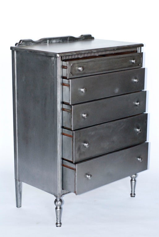1930 S Simmons Metal Highboy Dresser At 1stdibs