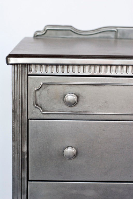 1930 S Simmons Metal Highboy Dresser At 1stdibs