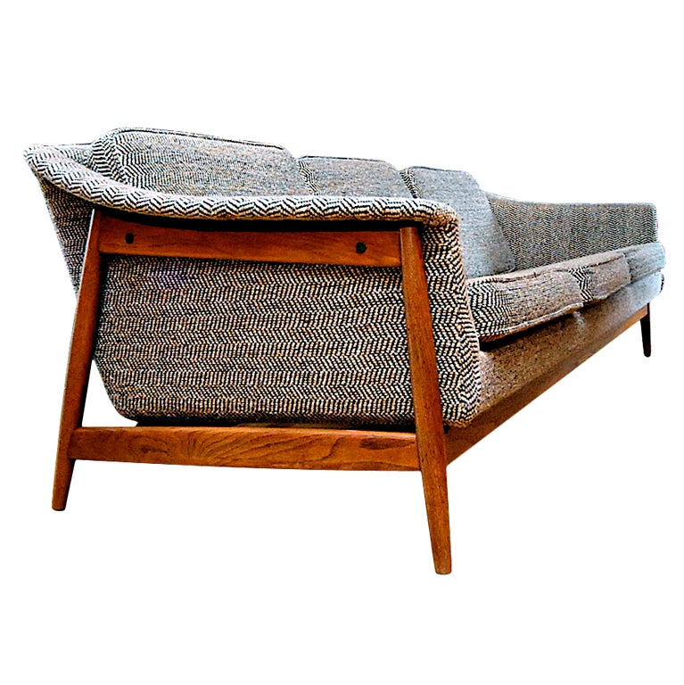 Dux danish modern mid century sofa at 1stdibs Danish modern furniture