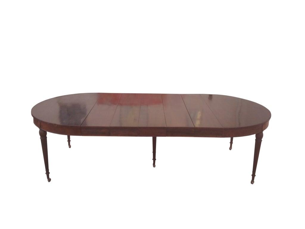 Sheraton Style Mahogany Banquet Table By Royal Furniture