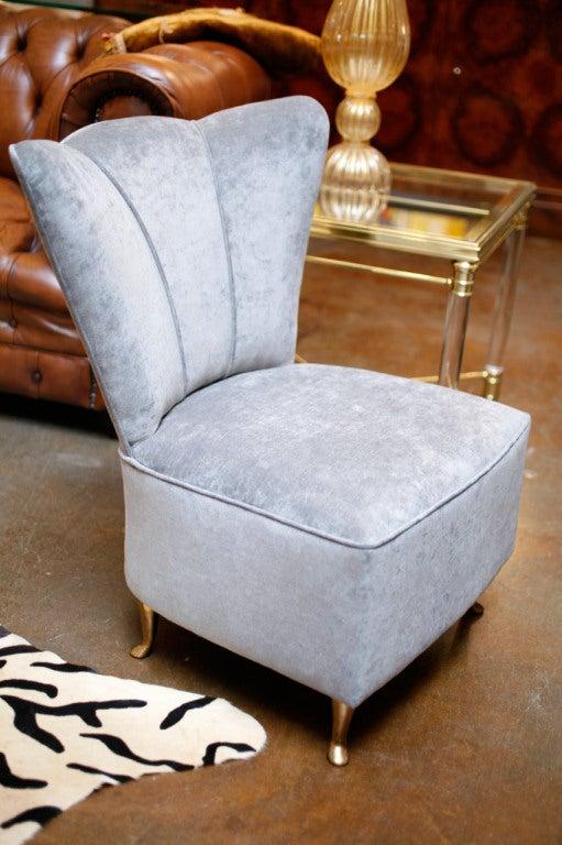Vintage Italian Upholstered Vanity Chair At 1stdibs