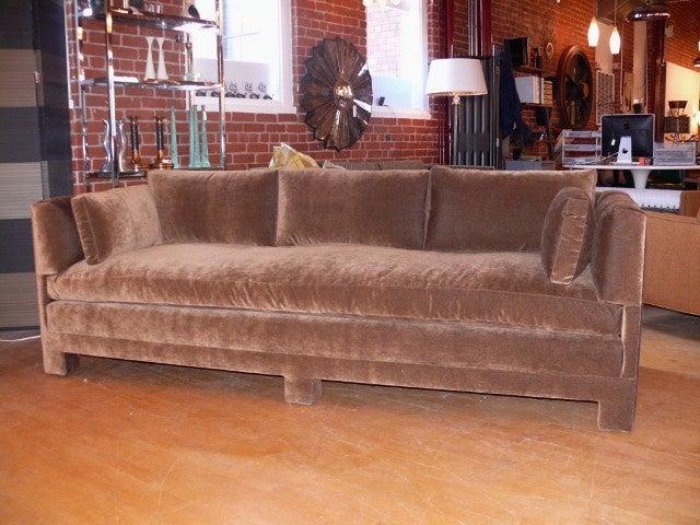 American Billy Baldwin Style Plush Sofa For