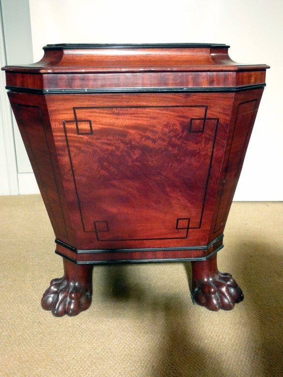 English Regency Cellarette with Lion's Paw Feet 6