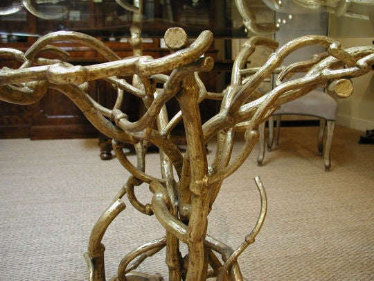 Candace Barnes Now Hand-Forged Bronze Napa Branch Table in Gold Leaf For Sale 2