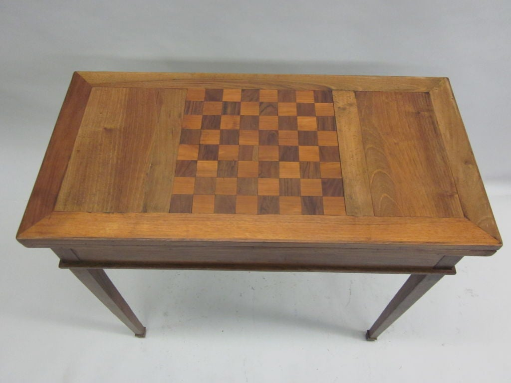 Inlay French Modern Neoclassical Louis XVI Style Game Table or Writing Desk, 1940 For Sale