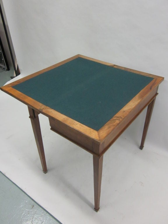 Bronze French Modern Neoclassical Louis XVI Style Game Table or Writing Desk, 1940 For Sale