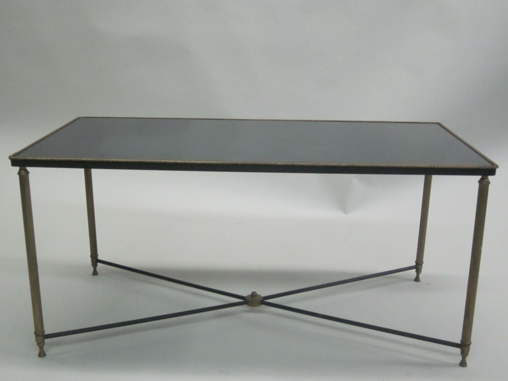 Mid-20th Century French Mid-Century Modern Neoclassical Cocktail Table, Attr. Maison Jansen For Sale