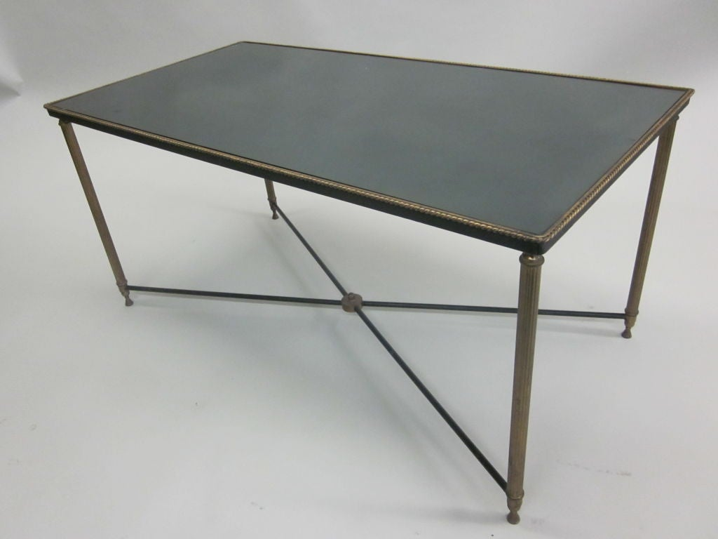 French Modern Neoclassical Cocktail Table Attributed to Jansen 3